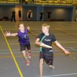 Basisschool leerkrachten leren les te geven in Ultimate Frisbee