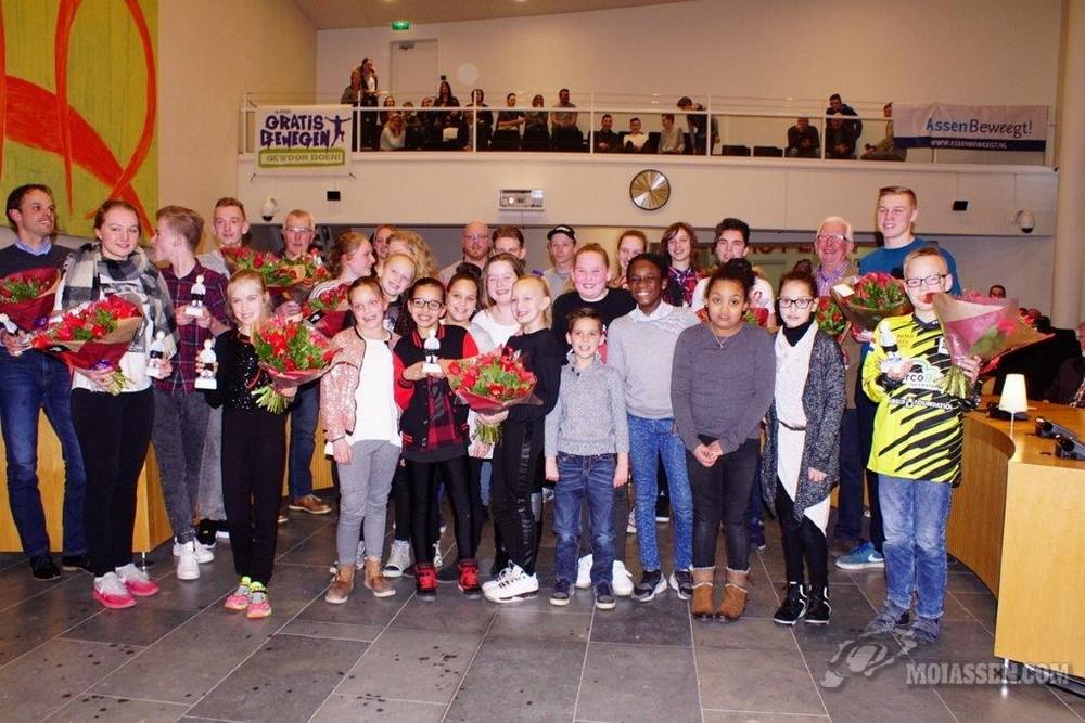 Feestelijke bijeenkomst in het gemeentehuis voor genomineerde Asser sporters