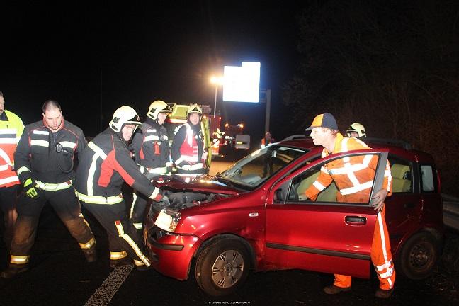 Ongeval op de A28 tussen Eelde en de oprit naar de N34