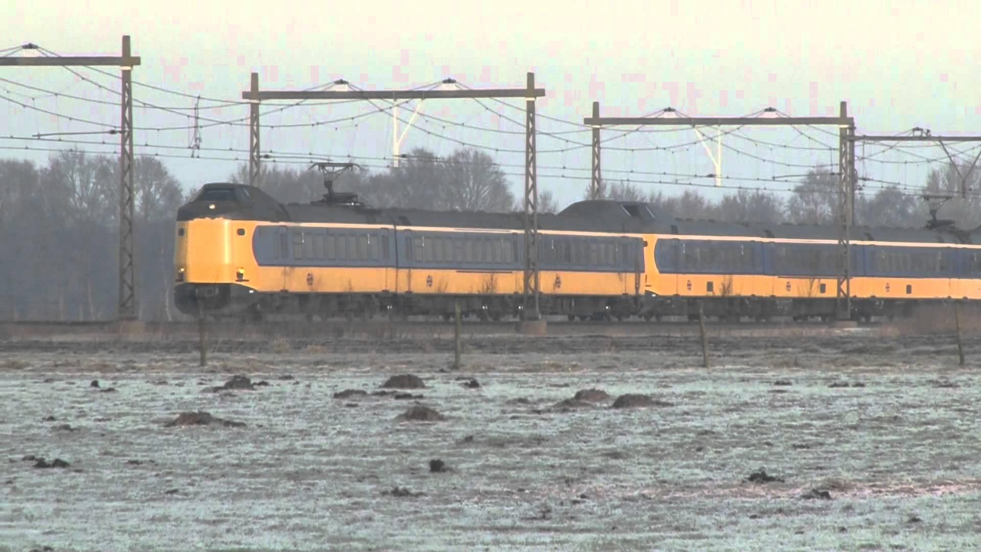 Een kapotte trein bij Haren