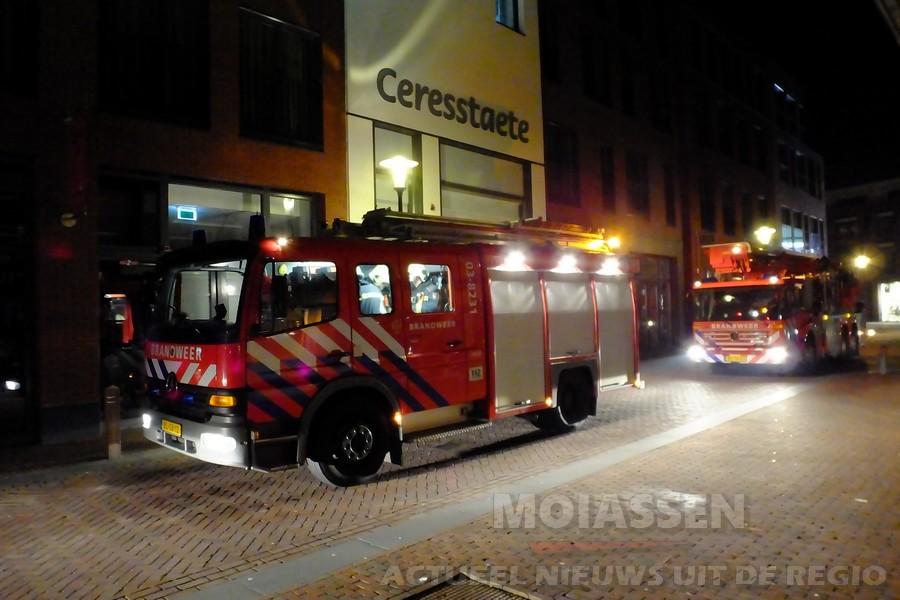 Brandgerucht: appartementen complex Cerresstaete in centrum van Assen