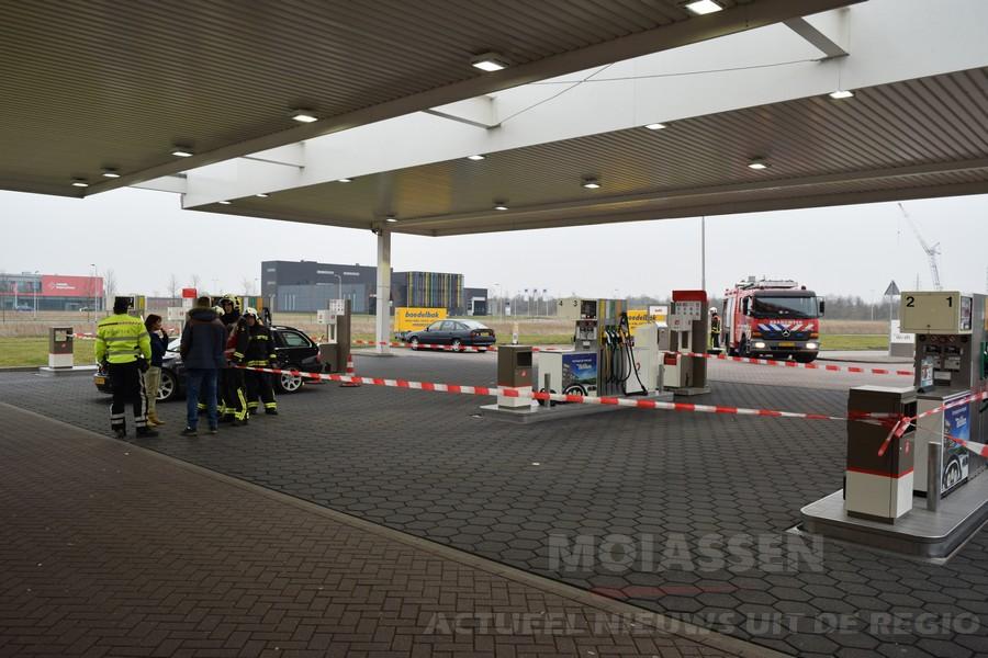 Brandstoflekkage bij Total Tankstation in Assen