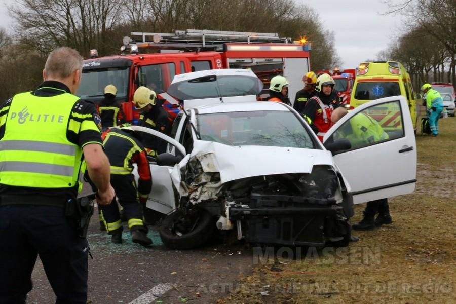 Zwaar verkeersongeval Donderen N386