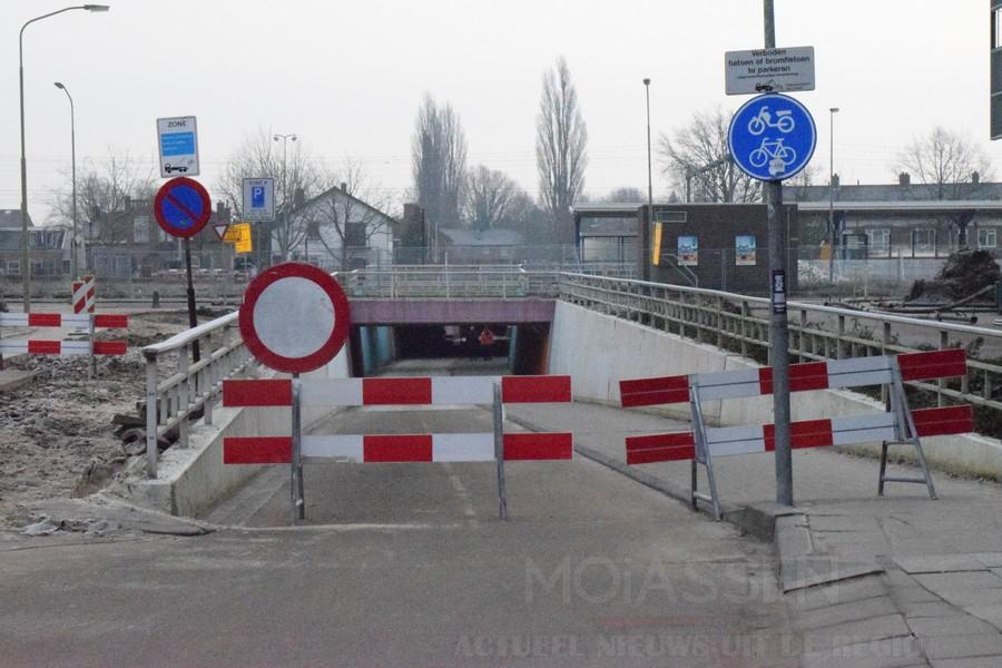 fietstunnel vredeveldseweg-stationstraat afgesloten