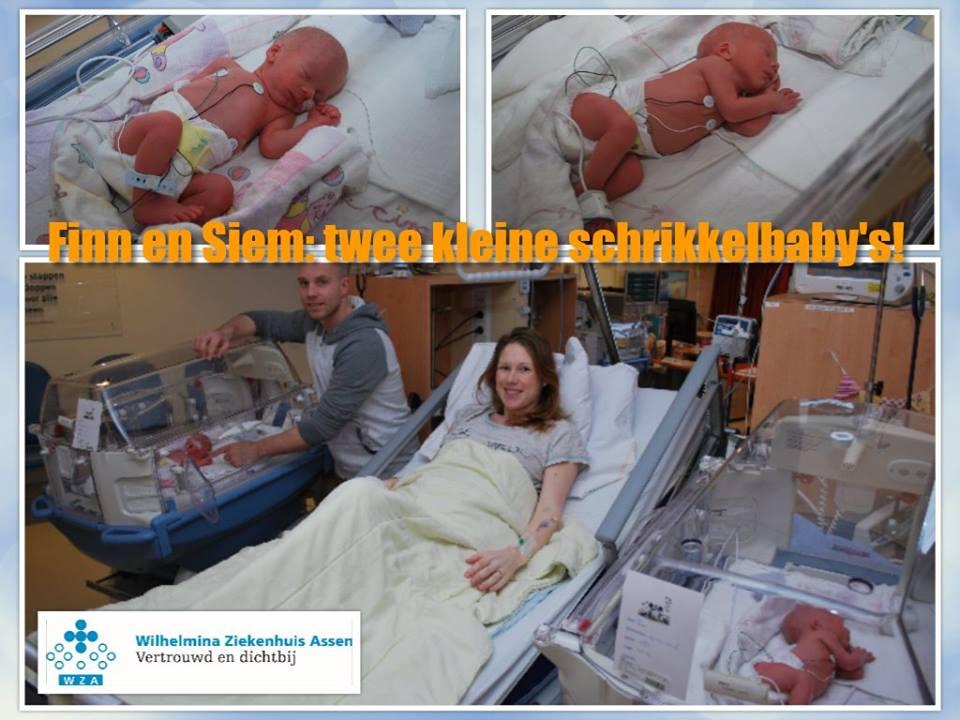 'Schrikkel- baby's ' geboren in Wilhelmina ziekenhuis Assen