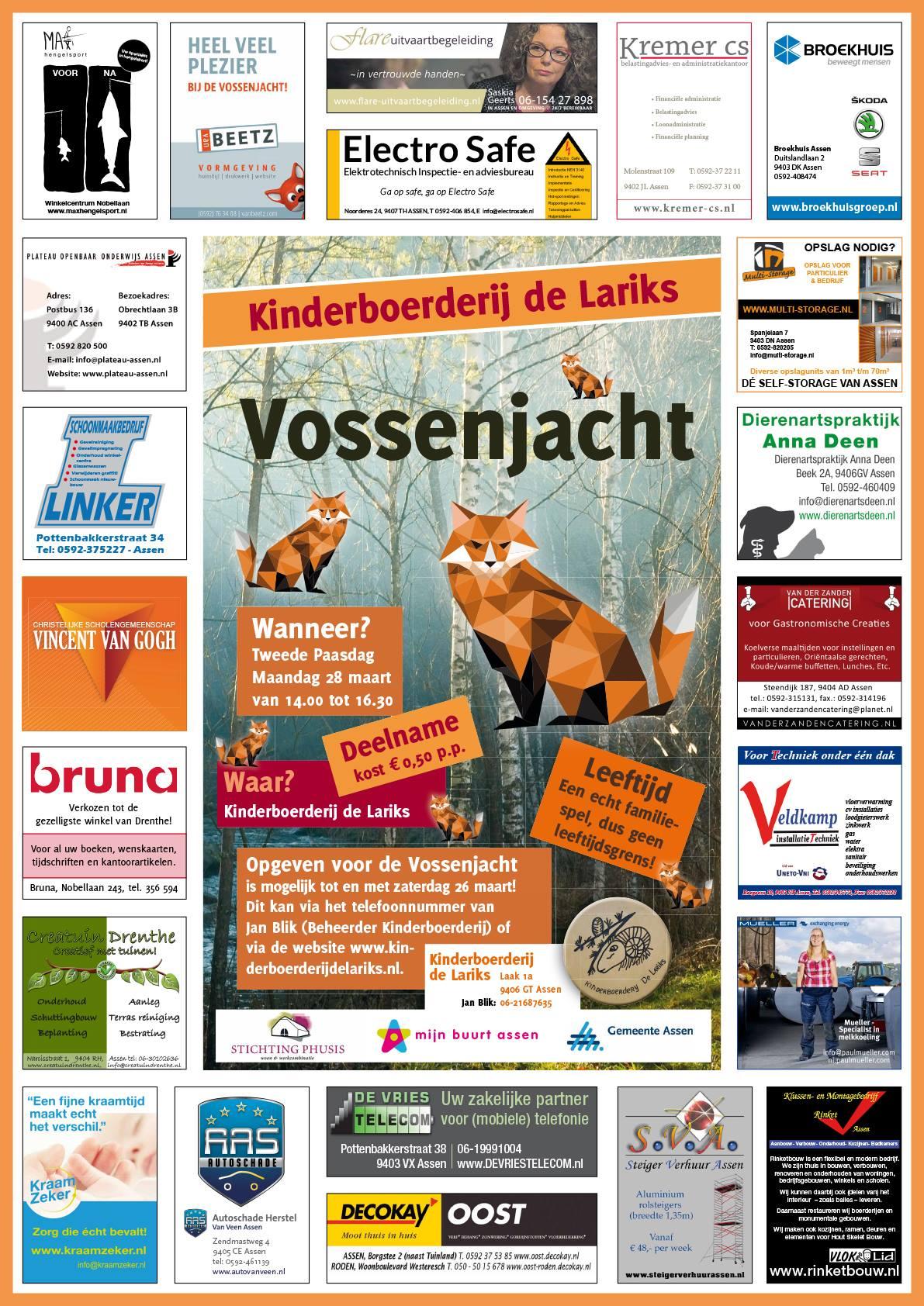 """Kinderboerderij """"de Lariks """",  organiseert Vossenjacht"""