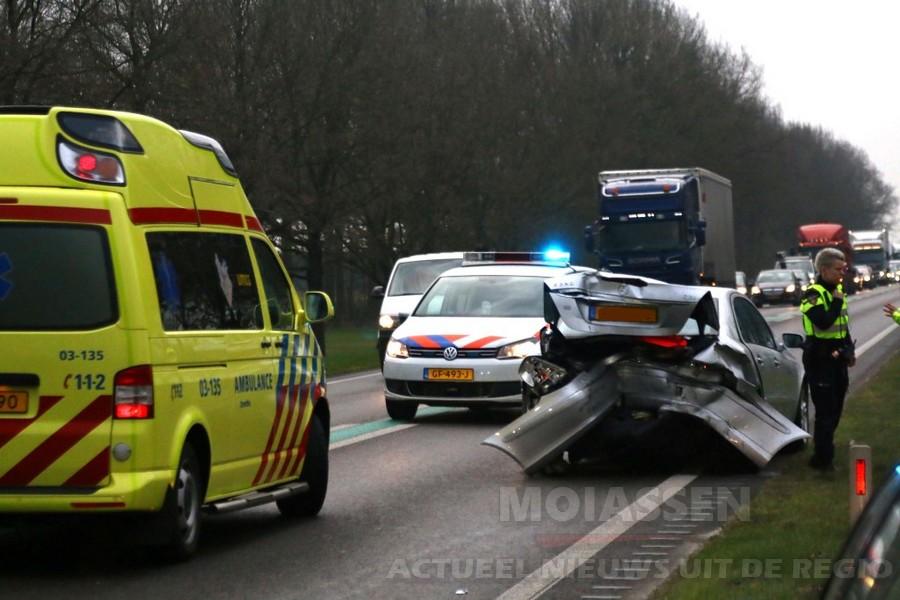 aanrijding op N34 tussen Gieten en Gasselte