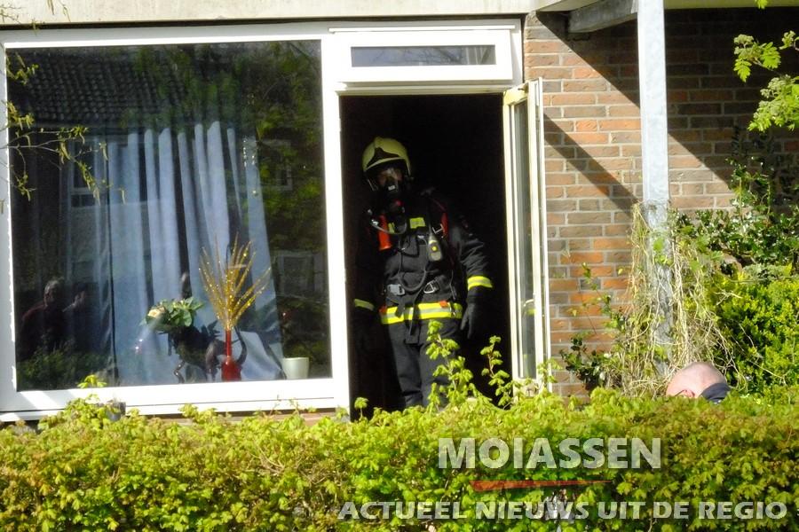 Woningbrand aan het Van Swinderenhof in Assen