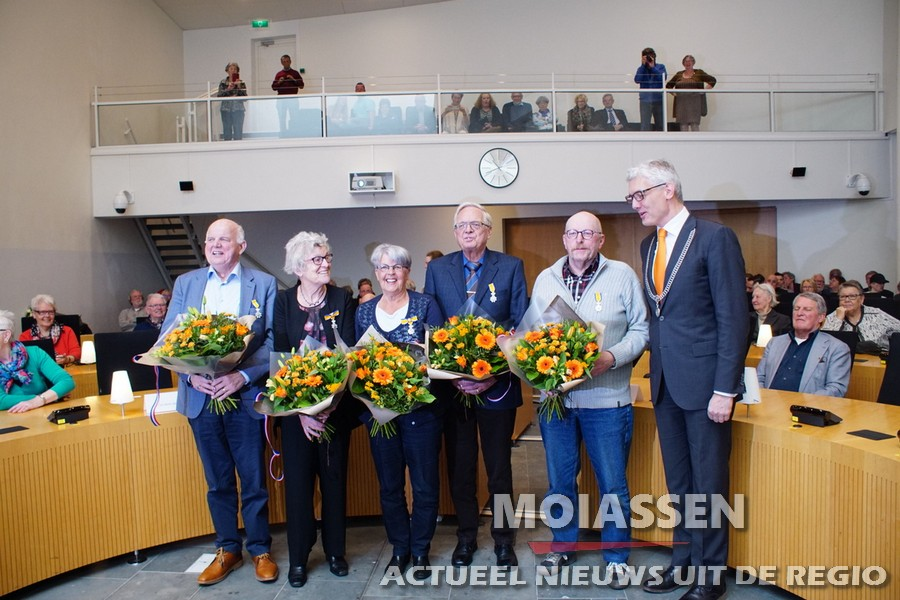 Vijf Assenaren krijgen koninklijke onderscheiding