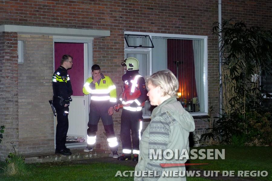 Vreemde lucht in woning aan Delft in Assen