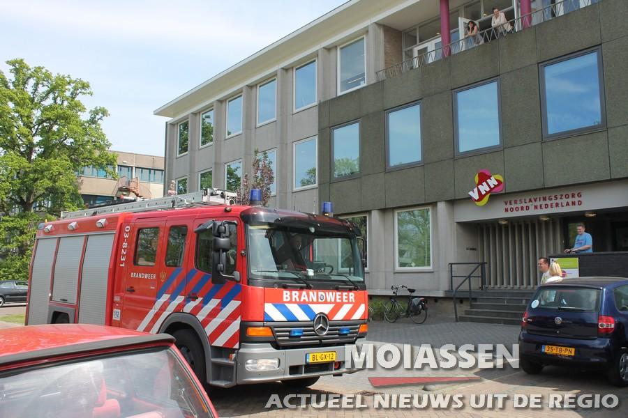 Brandweer rukt uit voor co2 melding