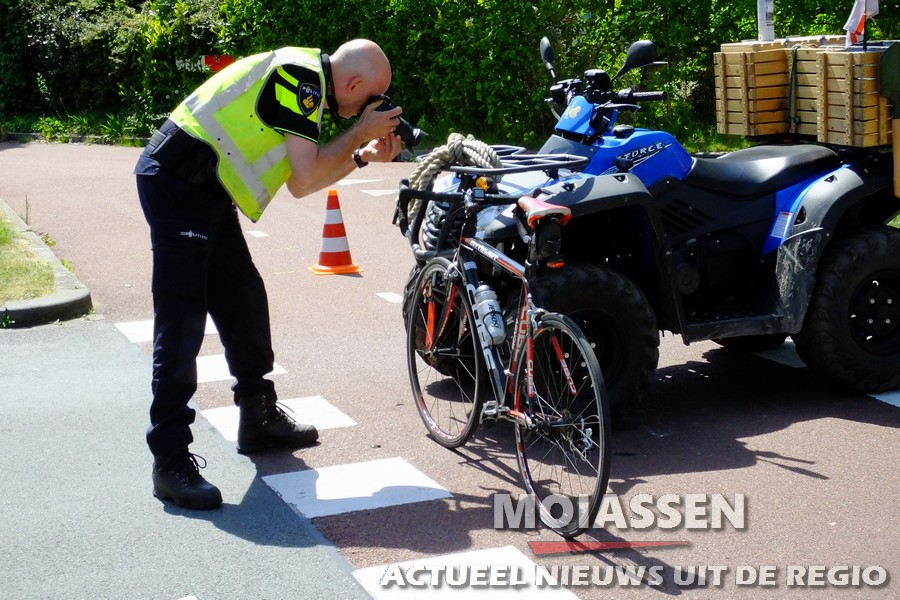 Wielrenner gewond na aanrijding met quad op fietspad Groningerstraat in Assen