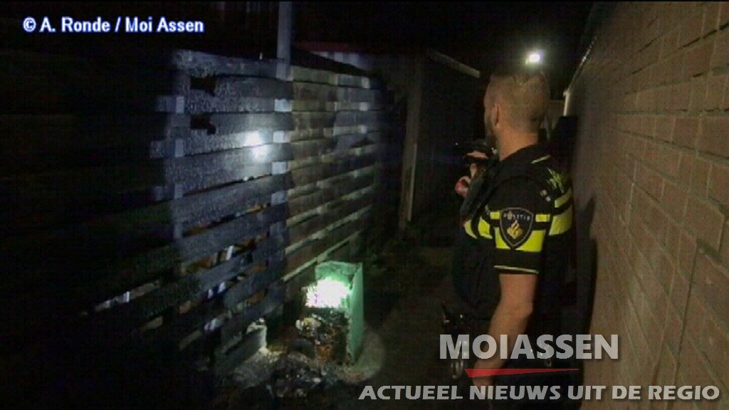 Containerbrand (kliko) Noordenveld Assen (VIDEO)