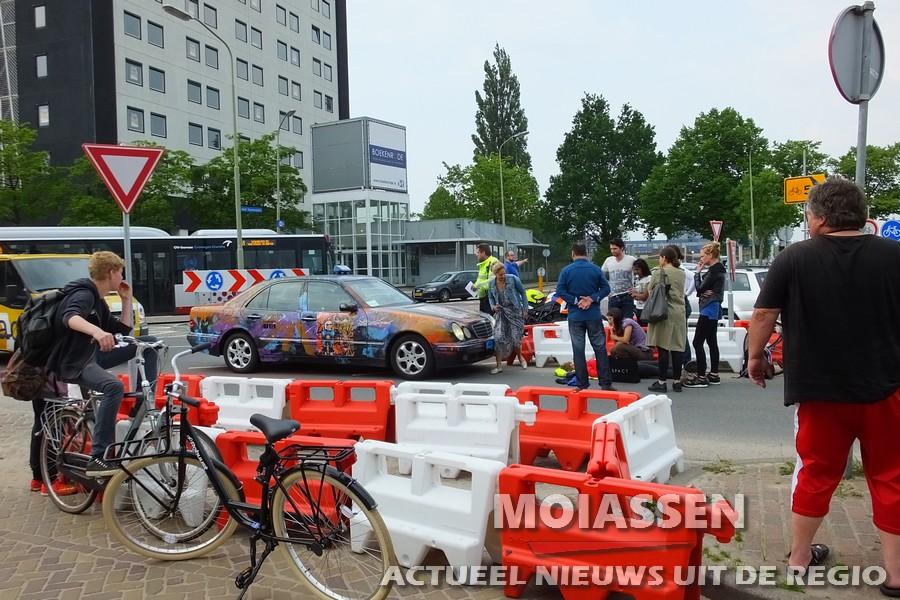 Ongeval op tijdelijke rotonde in Assen