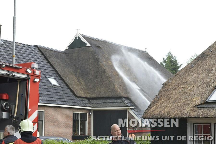 Dakbrand in Norg Eenerstraat