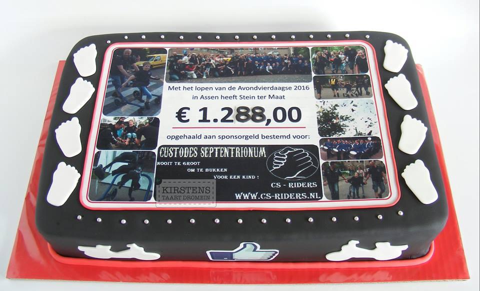 Avondvierdaagseheld Stein haalt bijna 1288 euro op voor CS Riders