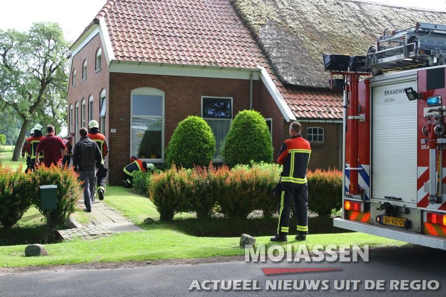 Aardgaslekkage in woning aan de Gieterstraat in Eext