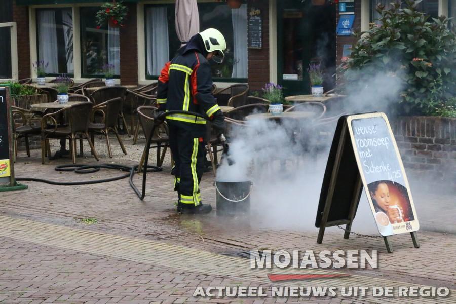 Schoorsteenbrand bij horeca onderneming aan de Brinkstraat in Anloo