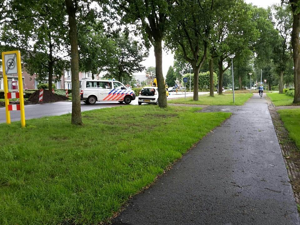 Ongeval op de Grolloërstraat in Rolde