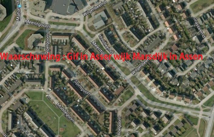 Waarschuwing : Gif in Asser wijk Marsdijk in Assen