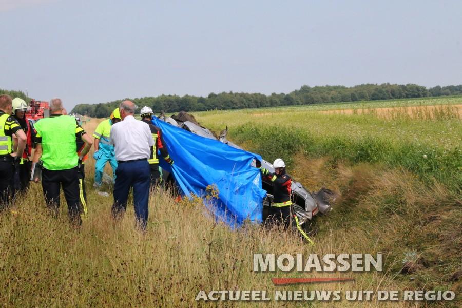 Zwaar ongeval A28 bij Assen-Noord (UPDATE Foto's)