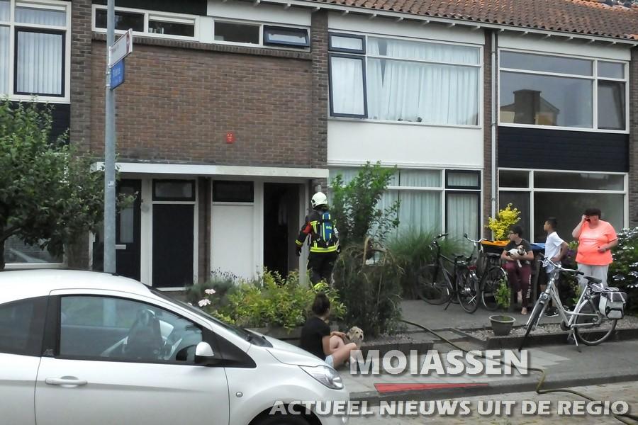Brandende gasfles in Assen (video)