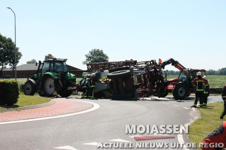 Ongeval met landbouwvoertuig Marwijksoord