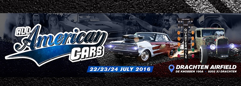 Quartermile Dragraces The Main Event en All American Cars op Airfield Drachten, powered by Oliehandel.nl