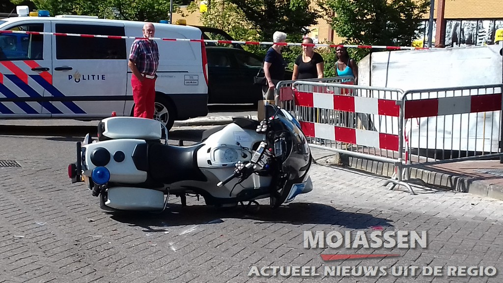 Motoragent gaat onderuit tijdens achtervolging in Assen