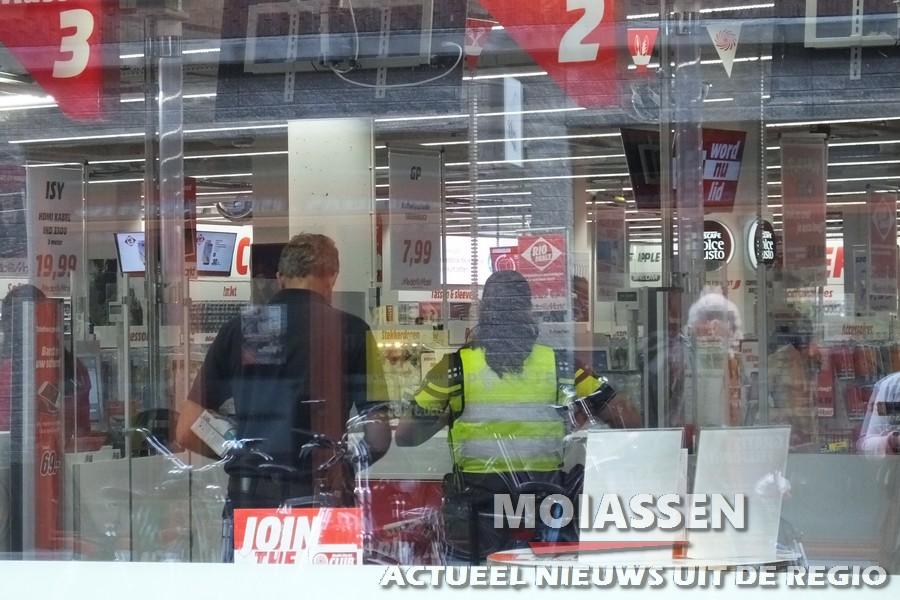 Gewapende overval op Mediamarkt in Assen