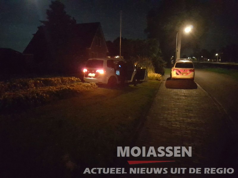 Politieauto Crash in Smilde