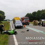 Motorrijder 24-jarige man uit Assen om het leven bij ongeval op N381 bij Sleen