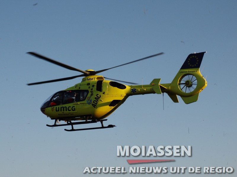 Traumahelikopter Lifeliner 4 is verhuist naar Airport Eelde
