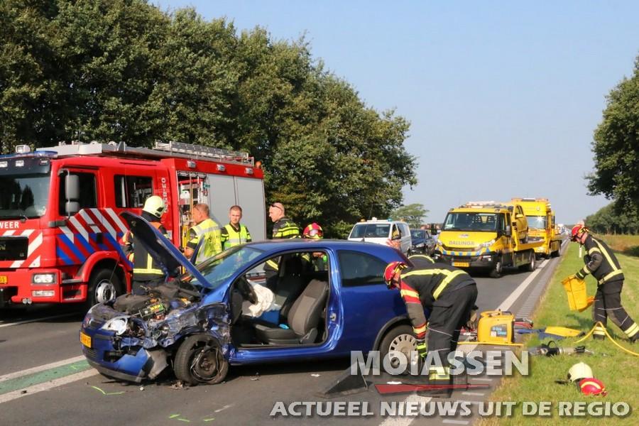 Zwaar ongeval N34 tussen Borger en Ees