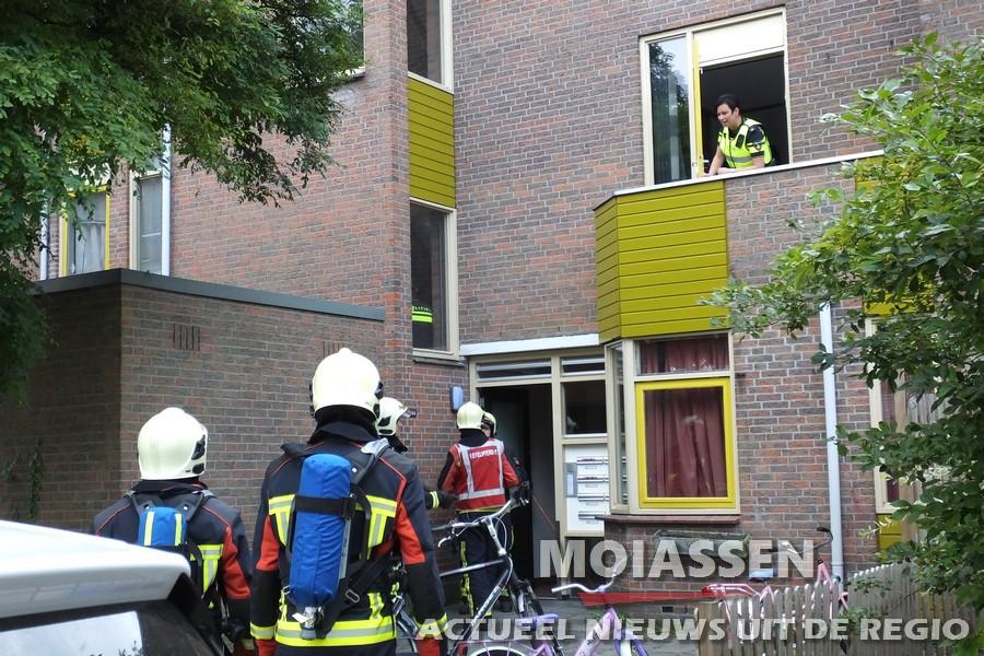 keukenbrandje aan de Burgemeester Agterstraat in Assen