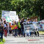 Circa 200 actievoerders  springen mee om de NAM te laten schudden