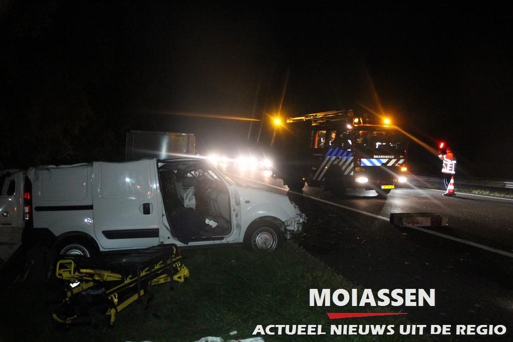 Bestuurder gewond bij ongeval op de A28 tussen Vries en Assen
