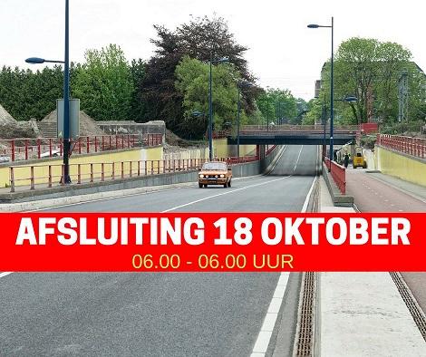 Roldertunnel 18 oktober afgesloten voor het verkeer