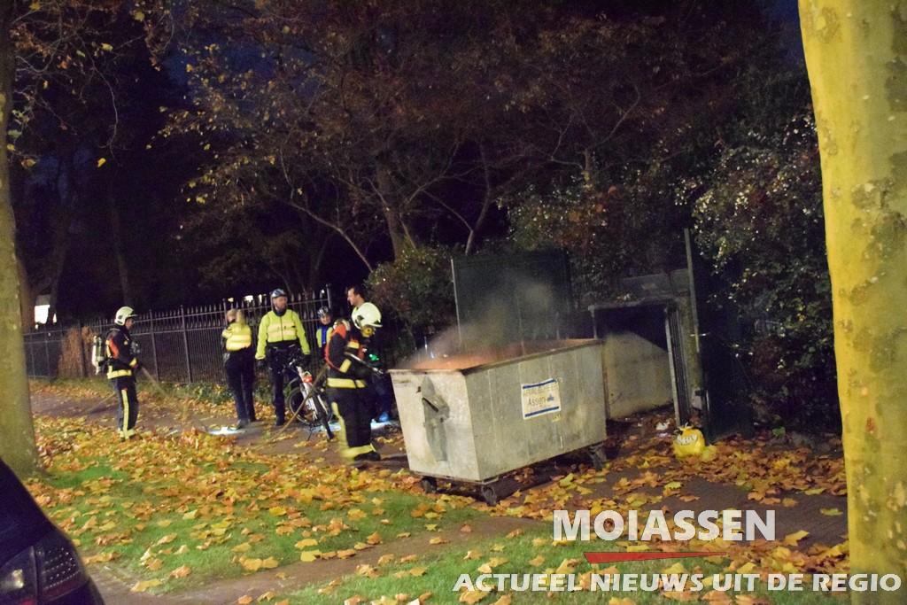 Containerbrand aan de Torenlaan in Assen