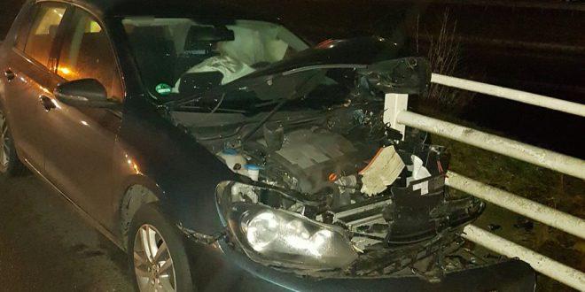Eenzijdig verkeersongeval op de Vaartweg bij Hoogersmilde