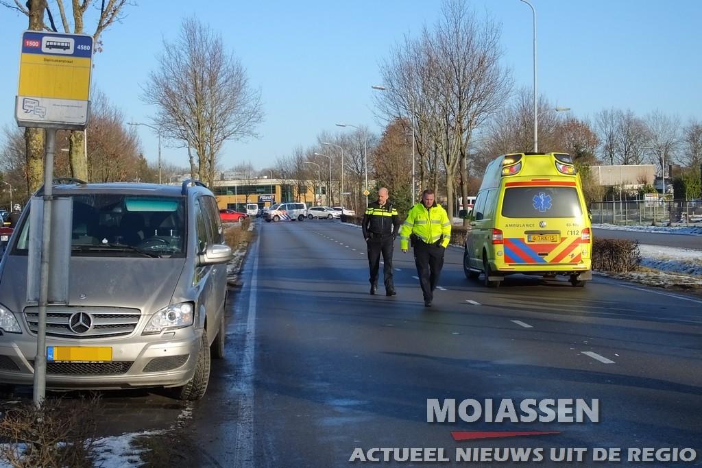 Voetganger raakt gewond bij aanrijding op de Stelmakerstraatin Assen
