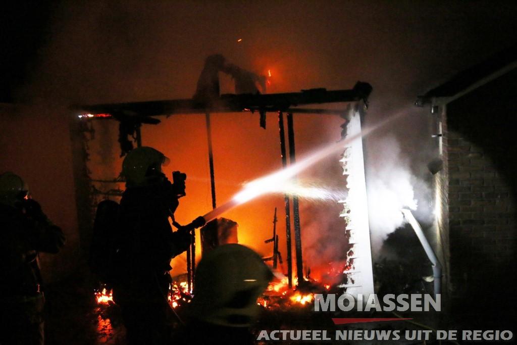 Sauna in vlammen op in Gasselternijveen