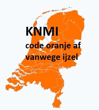 Het KNMI code oranje af vanwege ijzel