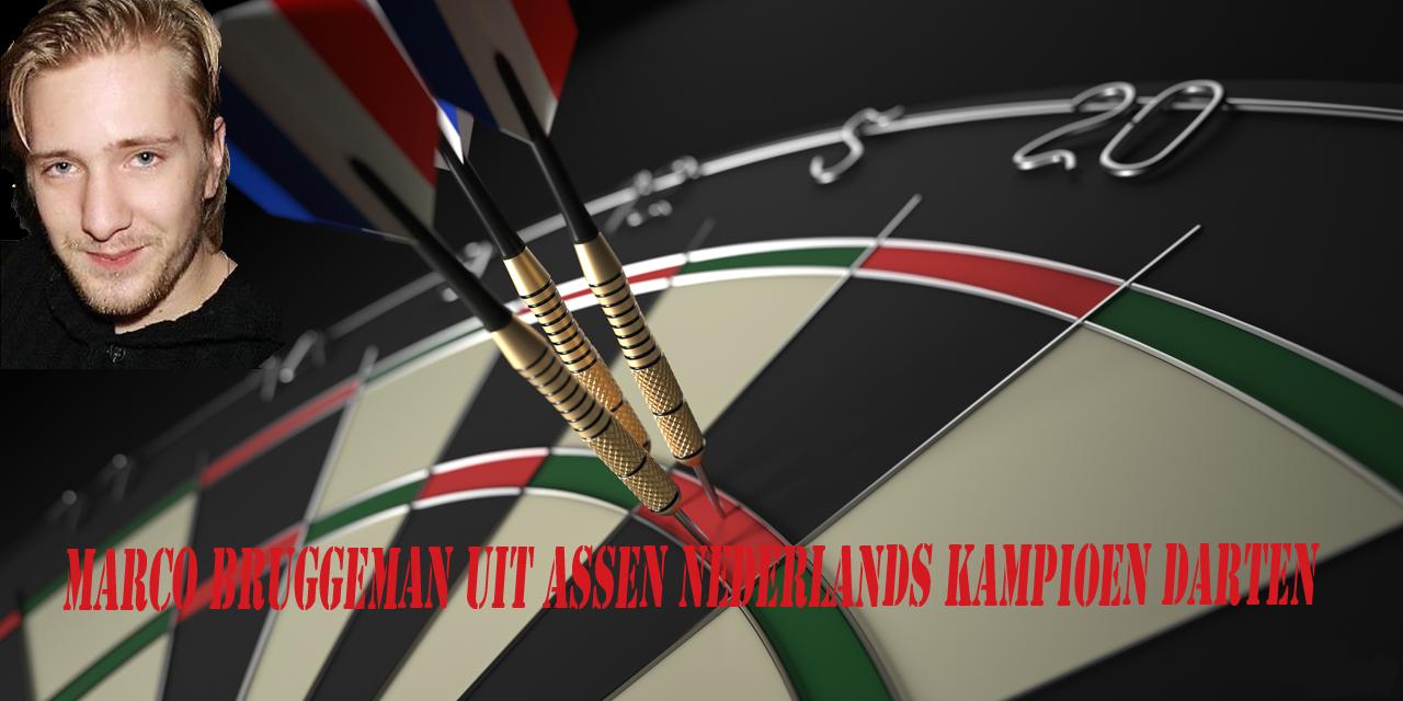Assenaar Marco Bruggeman Nederlands kampioen darten