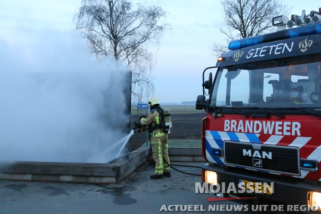 Brand in container Gieten