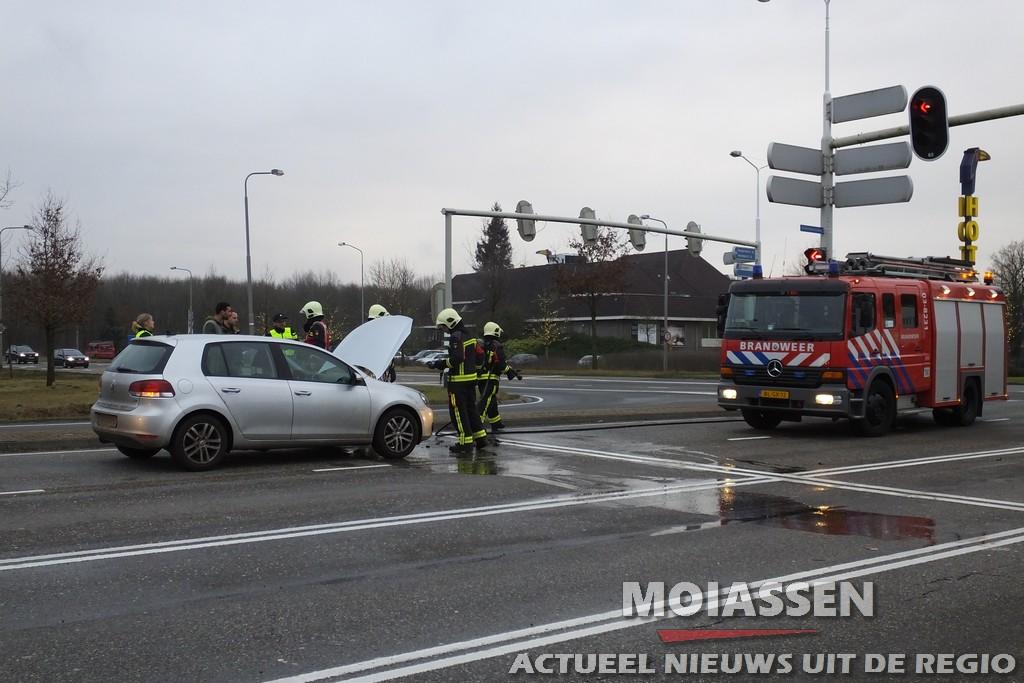 Autobrand aan de Balkendwarsweg in Assen