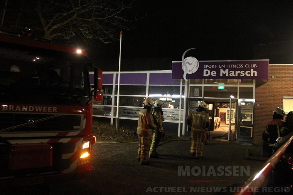 Brand in sportcentrum de Marsch aan de Hooiweg in Paterswolde