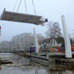 Monteerden van de nieuwe Groningerbrug is begonnen