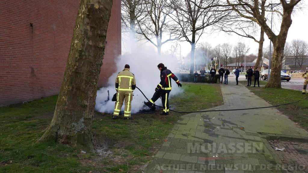Buitenbrand aan de Zuidenveld in Assen