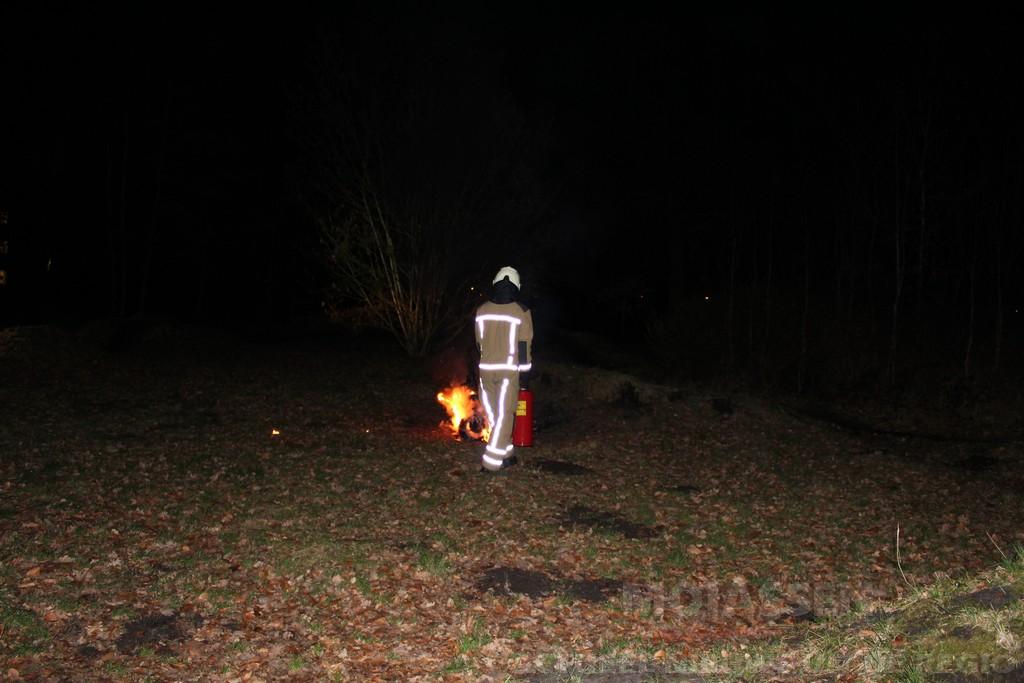 Brandende scooter in het Lariksbos Assen